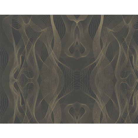 Karim Rashid Designer Black Gold Wallpaper