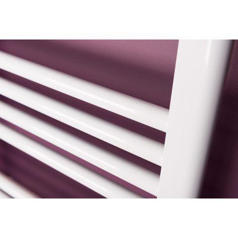 Karlskrona Handtuchheizkörper gerade 700 x 500 - Weiβ