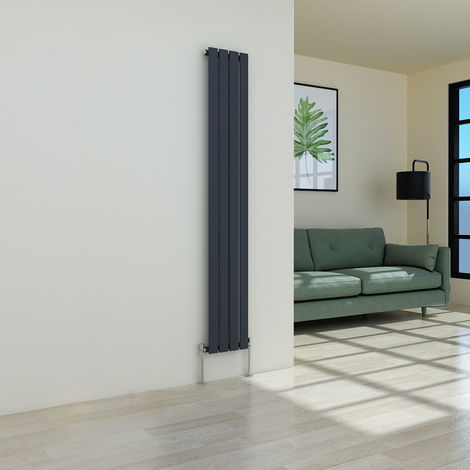 Karlstad 1800 x 274mm Anthracite Single Flat Panel Vertical Radiator