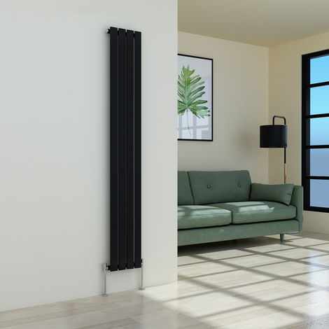 Karlstad 1800 x 274mm Black Single Flat Panel Vertical Radiator
