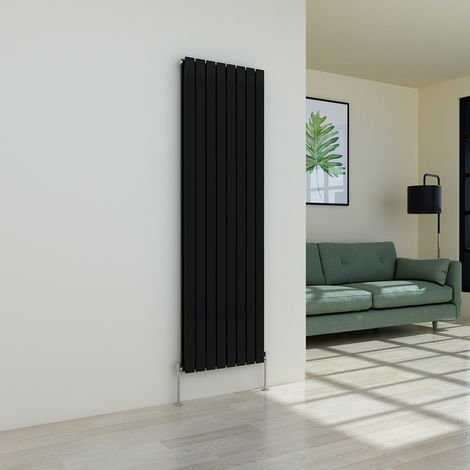 Karlstad 1800 x 546mm Black Double Flat Panel Vertical Radiator
