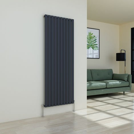Karlstad 1800 x 682mm Anthracite Single Flat Panel Vertical Radiator
