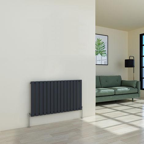 Karlstad 600 x 1022mm Anthracite Single Flat Panel Horizontal Radiator
