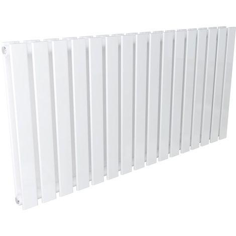 Karlstad 600 x 1208mm White Double Flat Panel Horizontal Radiator