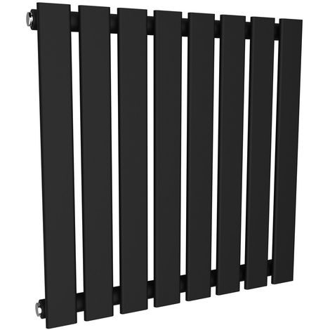 Karlstad 600 x 600mm Sand Grey Single Flat Panel Horizontal Radiator
