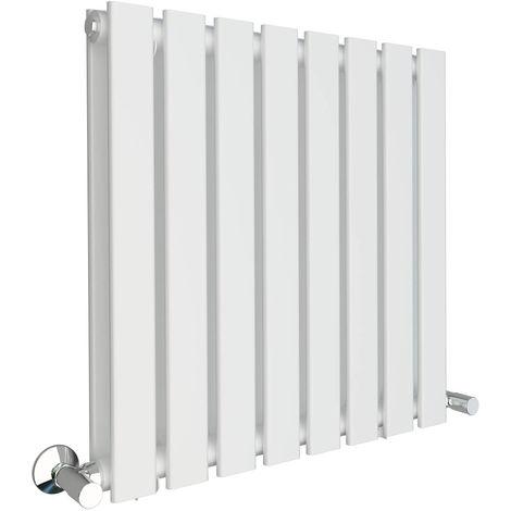 Karlstad 600 x 600mm White Double Flat Panel Horizontal Radiator