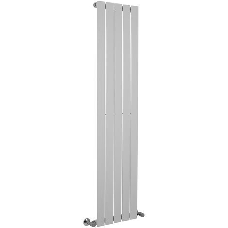 Karlstad Chrome Flat Panel Vertical Radiator