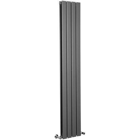 Karlstad Chrome Flat Panel Vertical Radiator