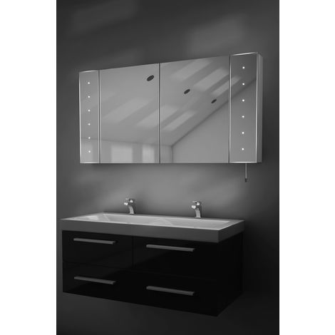 Karma LED Illuminated Battery Bathroom Mirror Cabinet With Pull Cord k144