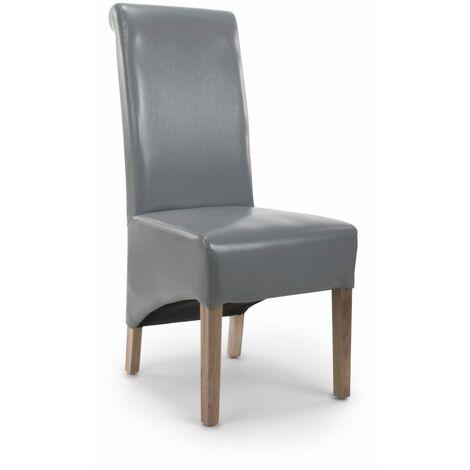 Karren RolLisbon ded Leather Grey Chair