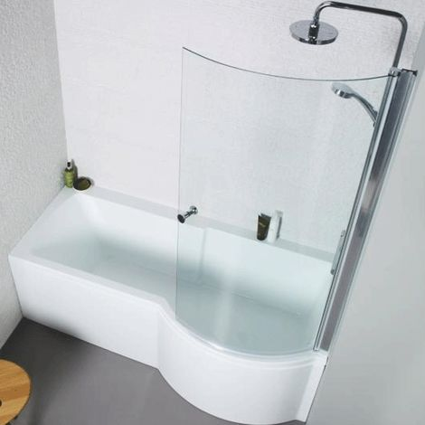 Kartell Adapt P-Shaped Shower Bath 1700mm X 850mm Right Hand