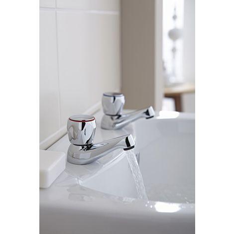 Kartell Alpha Brass Bath Tap Pair