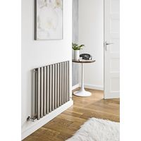 Kartell Aspen Stainless Steel Horizontal Designer Radiator 600mm x 570mm Single Panel