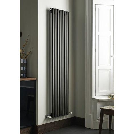 Kartell Aspen Steel Anthracite Vertical Designer Radiator 1600mm x 430mm Double Panel