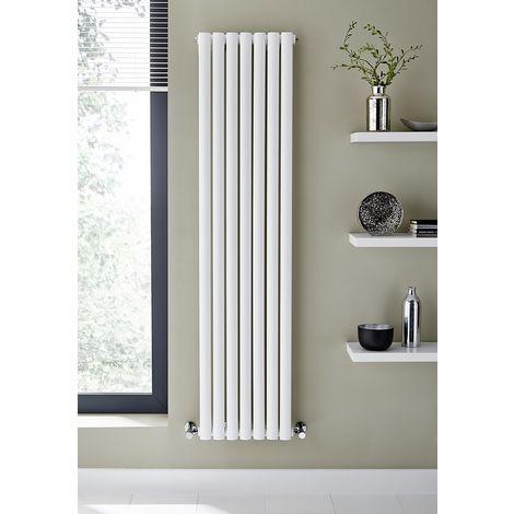 Kartell Aspen Steel White Vertical Designer Radiator 1600mm x 430mm Single Panel