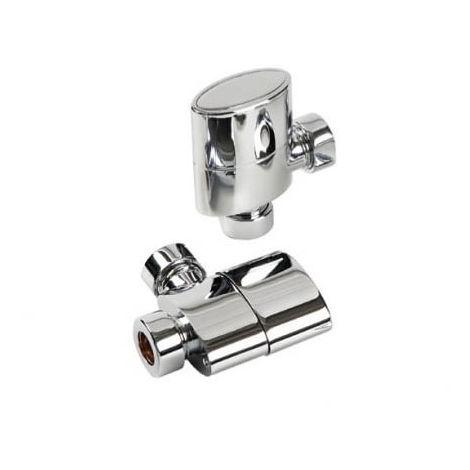 Kartell Aspen Straight Steel Radiator & Towel Rail Valve Chrome