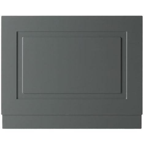 Kartell Astley 800mm End Bath Panels - Matt Grey