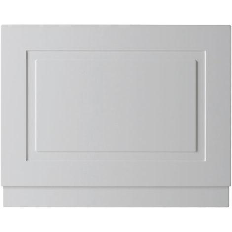 Kartell Astley 800mm End Bath Panels - Matt White