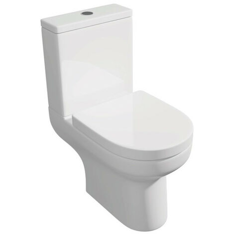 Kartell Bijou Rimless Close Coupled Toilet Cistern with Soft Close Seat
