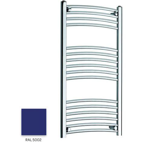 Kartell Blue 1000mm x 300mm Curved 22mm Towel Rail - CTR310-RAL5002