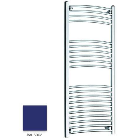 Kartell Blue 1200mm x 300mm Curved 22mm Towel Rail - CTR312-RAL5002
