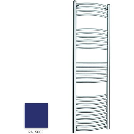 Kartell Blue 1600mm x 300mm Curved 22mm Towel Rail - CTR316-RAL5002