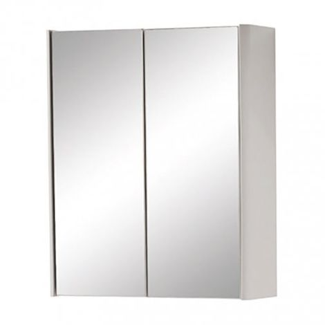 Kartell Cayo 2-Doors Mirrored Bathroom Cabinet 600mm H x 500mm W - Rolling Mist