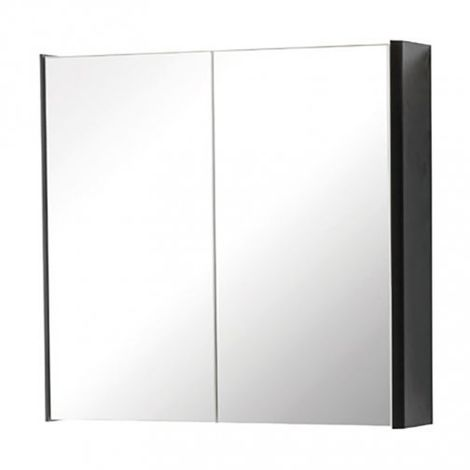 Kartell Cayo 2-Doors Mirrored Bathroom Cabinet 600mm H x 600mm W - Anthracite