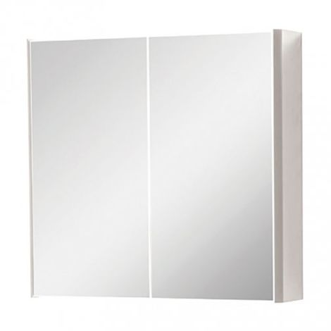 Kartell Cayo 2-Doors Mirrored Bathroom Cabinet 600mm H x 600mm W - Rolling Mist