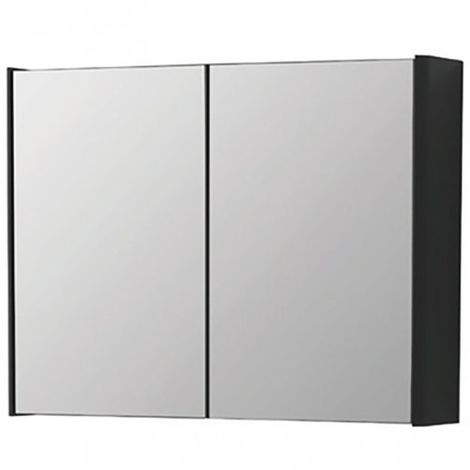 Kartell Cayo 2-Doors Mirrored Bathroom Cabinet 600mm H x 800mm W - Anthracite