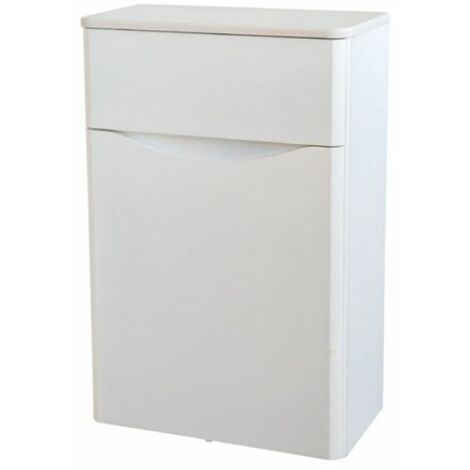 Kartell Cayo Back to Wall WC Unit with Concealed Cistern 500mm - White