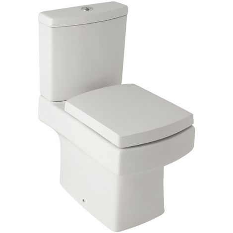 Kartell Embrace Ceramic Close Coupled Toilet WC Pan With Cistern & Soft Close Seat