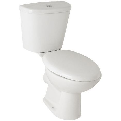 Kartell G4k Ceramic Closed Couple Toilet WC Pan With Cistern & Supreme Soft Close Seat
