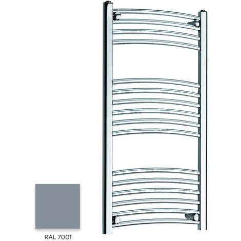 Kartell Grey 1000mm x 300mm Curved 22mm Towel Rail - CTR310-RAL7001