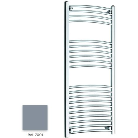 Kartell Grey 1200mm x 300mm Curved 22mm Towel Rail - CTR312-RAL7001