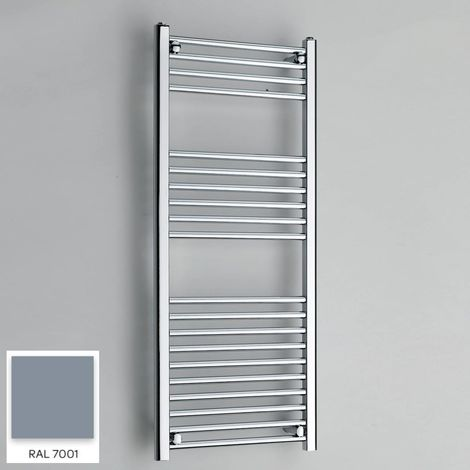 Kartell Grey 1200mm x 300mm Straight 22mm Towel Rail - STR312-RAL7001