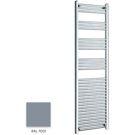 Kartell Grey 1600mm x 600mm Straight 22mm Towel Rail - STR616-RAL7001