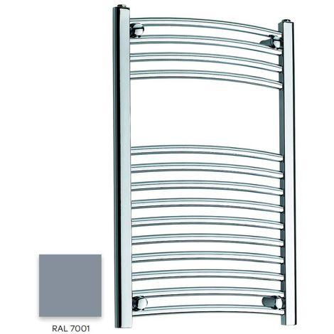 Kartell Grey 800mm x 300mm Curved 22mm Towel Rail - CTR308-RAL7001