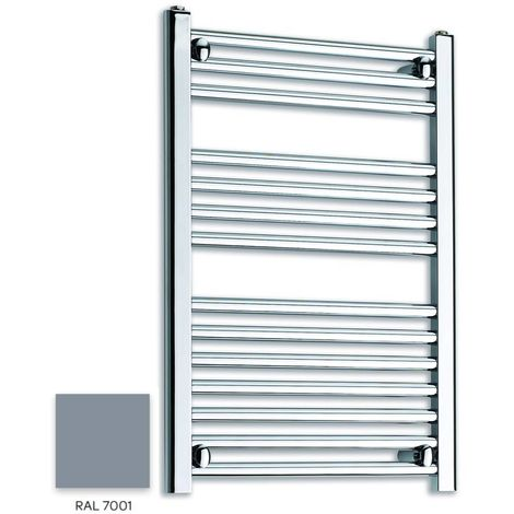 Kartell Grey 800mm x 300mm Straight 22mm Towel Rail - STR308-RAL7001