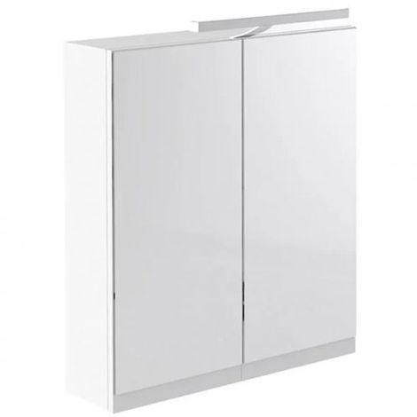 Kartell Ikon Mirror Cabinet with Light & Shaver Socket 600mm White