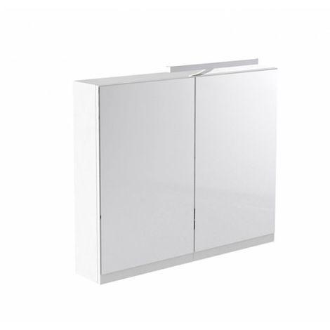 Kartell Ikon Mirror Cabinet with Light & Shaver Socket 800mm White