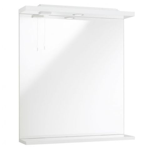 Kartell Impakt Bathroom Mirror With Lights 450mm White