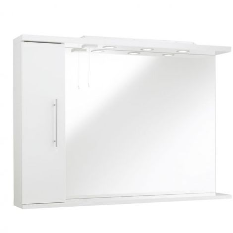 Kartell Impakt Bathroom Mirror With Side Cabinet & Lights 1200mm