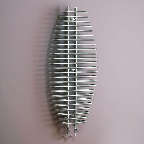 Kartell Jose Steel Chrome Vertical Designer Radiator 1300mm x 600mm