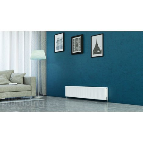 Kartell Kompact Type 22 Double Panel Double Convector Radiator 300mm x 1600mm White