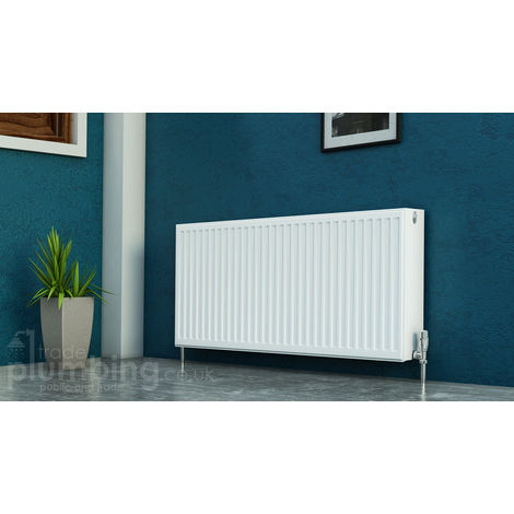 Kartell Kompact Type 22 Double Panel Double Convector Radiator 400mm x 900mm White