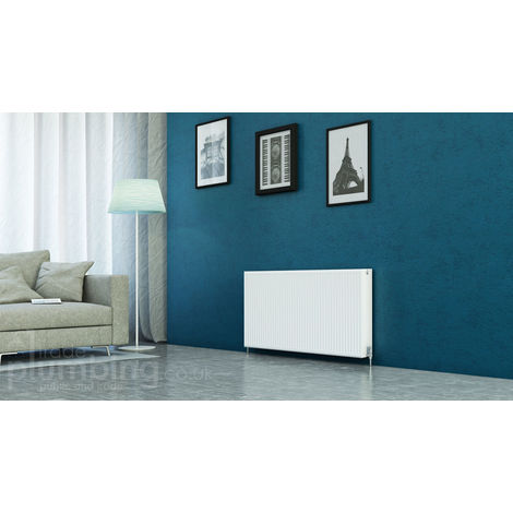 Kartell Kompact Type 22 Double Panel Double Convector Radiator 600mm x 1300mm White