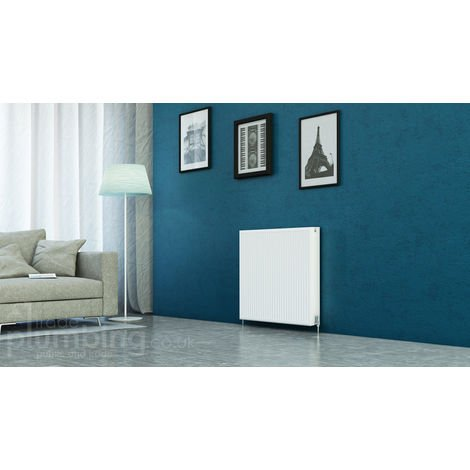 Kartell Kompact Type 22 Double Panel Double Convector Radiator 750mm x 900mm White