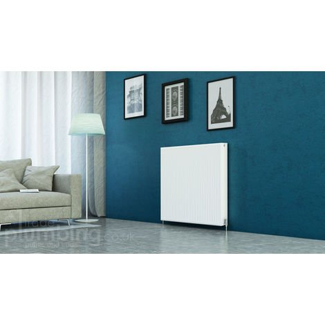 Kartell Kompact Type 22 Double Panel Double Convector Radiator 900mm x 1100mm White