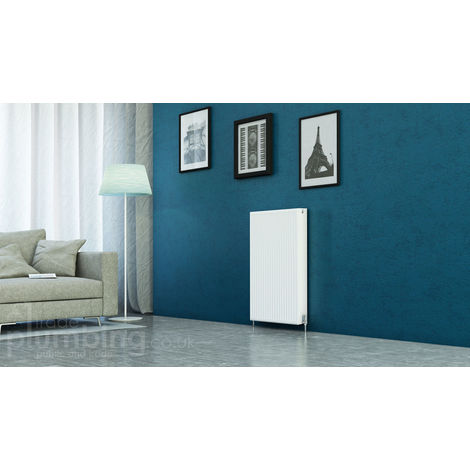 Kartell Kompact Type 22 Double Panel Double Convector Radiator 900mm x 600mm White
